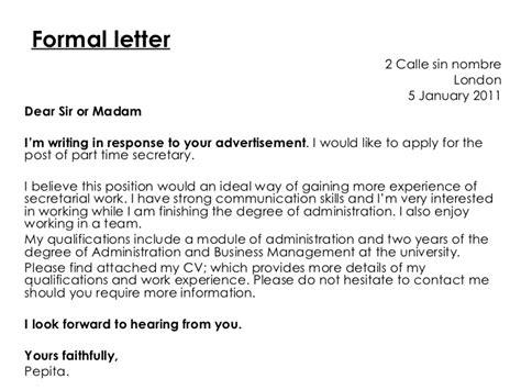 formal letter  informal letter