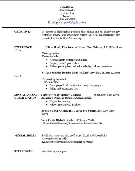 exle of how to write a resume how to write a resume