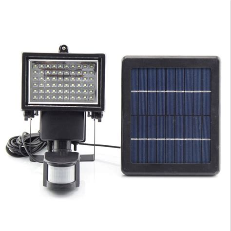 ultra bright 60 leds motion sensor security solar light