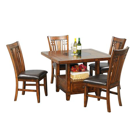 60 square dining table with leaf 60 quot zahara dining table w granite lazy susan barr 8997