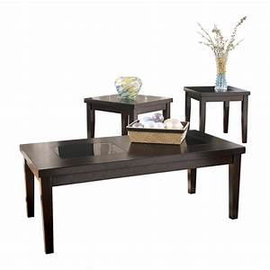 ashley denja 3pc dark brown coffee table set dallas tx With dark brown coffee table set
