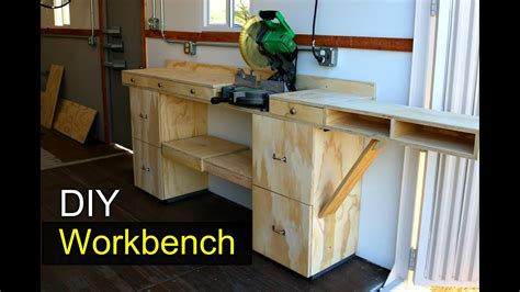 modular workbench shipping container shop diy