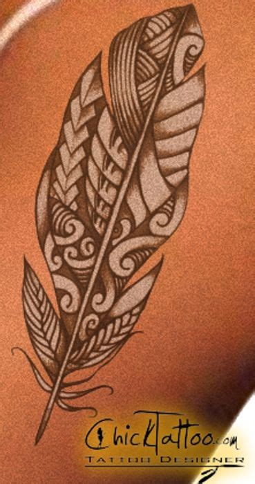 chicktattoo custom polynesian tattoo design ink
