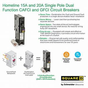 Square D Homeline 20 Amp Single