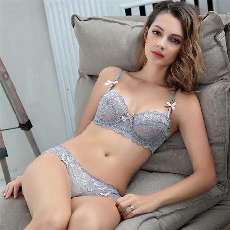 2019 France Women Intimates Bra Set Sexy Lace Floral Push