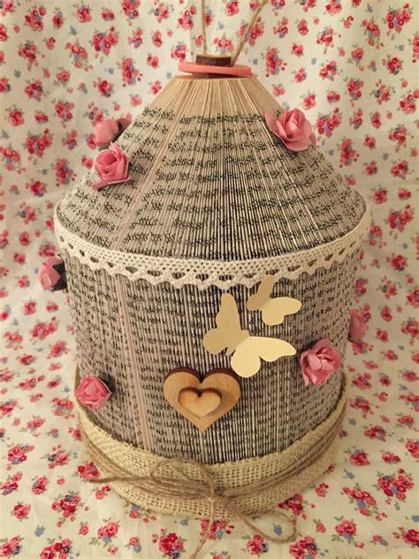 folded book art birdcage wedding anniversary birthday
