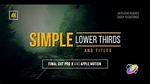 final cut pro lower thirds templates - simple lower thirds and titles fcpx by whitemarker videohive