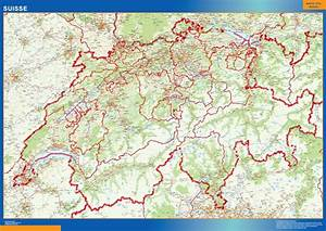 Mapa Suiza Carreteras Tienda Mapas Posters Pared