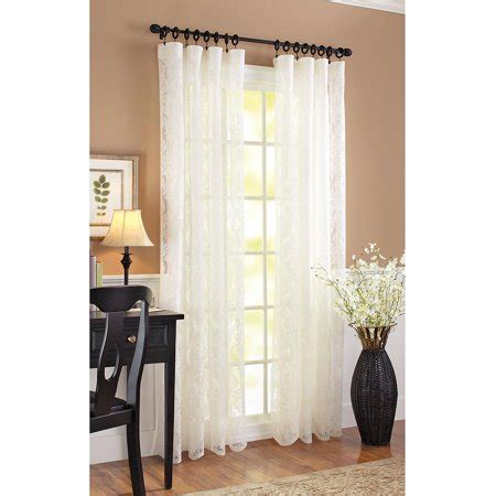 better homes and gardens curtains better homes and gardens lace damask curtain panel