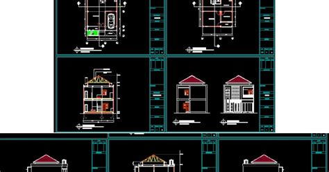 gambar autocad sketchup rab proposal perumahan