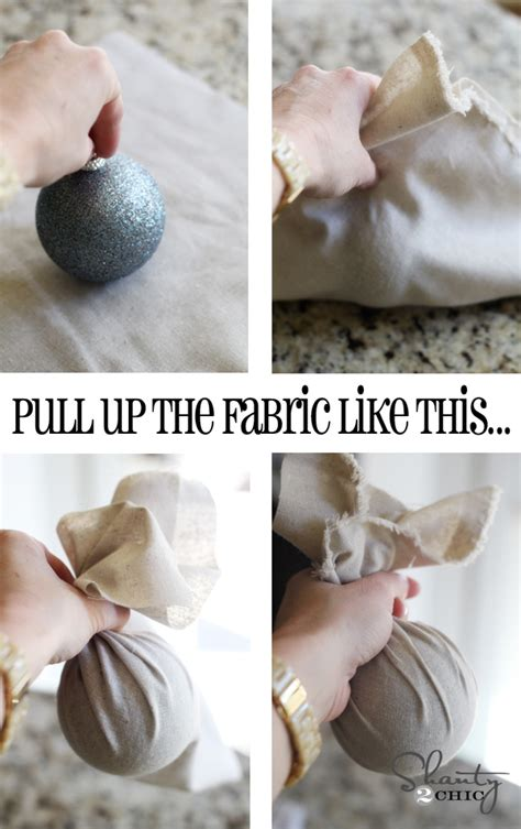 how to make ornament diy christmas ornament easy fabric balls shanty 2 chic
