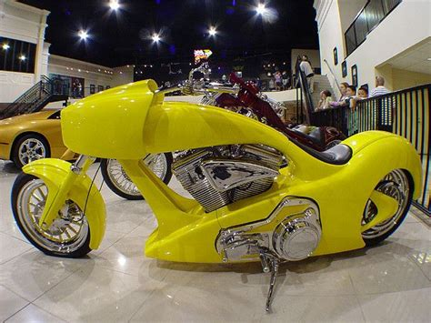 a custom bike at the exotic car shop in caesars palace