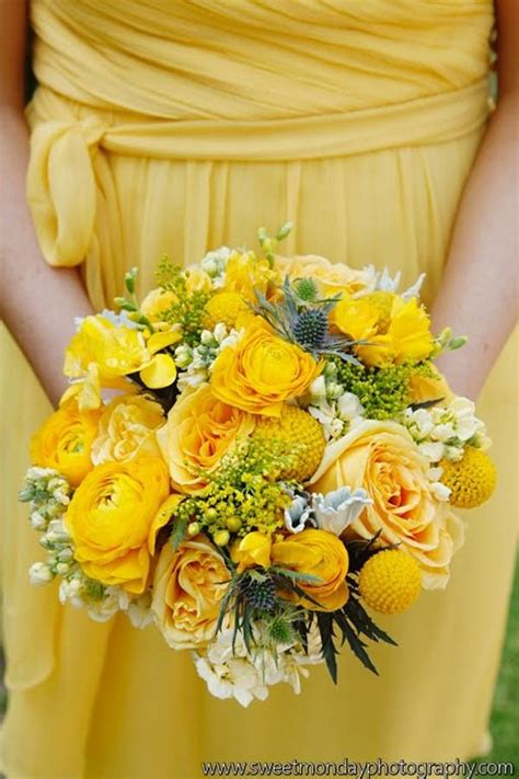 yellow wedding flowers ideas  pinterest