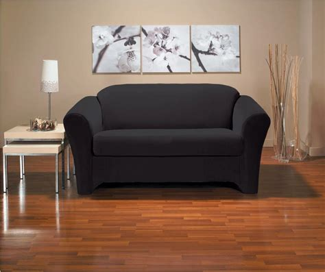 Black Sofa Covers Cheap by Black Loveseat Slipcover House Decoration Ideas Cheap
