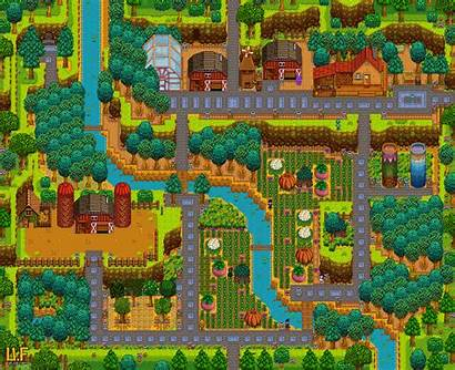 Stardew Valley Farm Fall Hilltop Layout Farms
