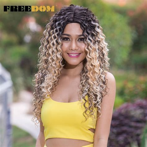Freedom Wigs Deep Wave Lace Front Wigs Synthetic Hair 26