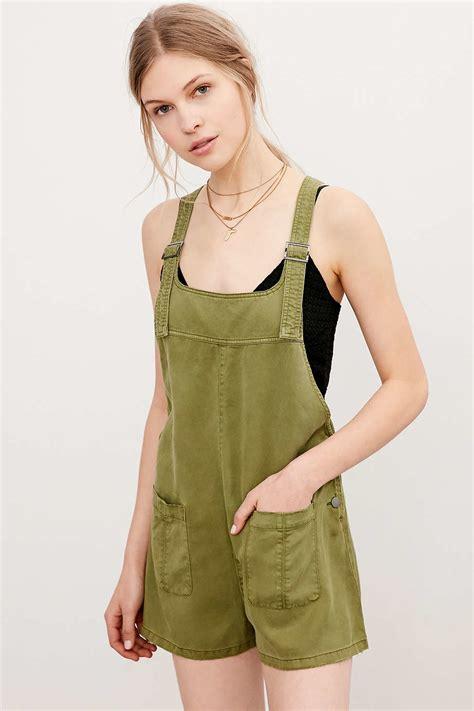 Lyst - Bdg Nicki Overall Romper in Green