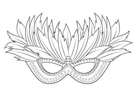 venetian mardi gras mask coloring page free printable coloring pages