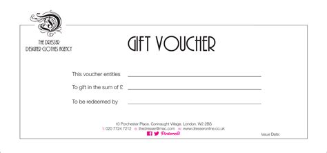 gift voucher template word   printable