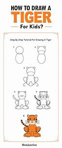 How To Draw A Tiger Step By Step For Kids? | For kids, A ...