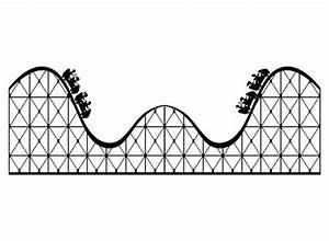 Roller Coaster Large Vinyl Wall Decal | WilsonGraphics ...