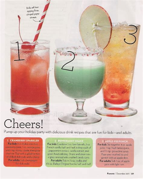holiday party drinks adult beverages pinterest