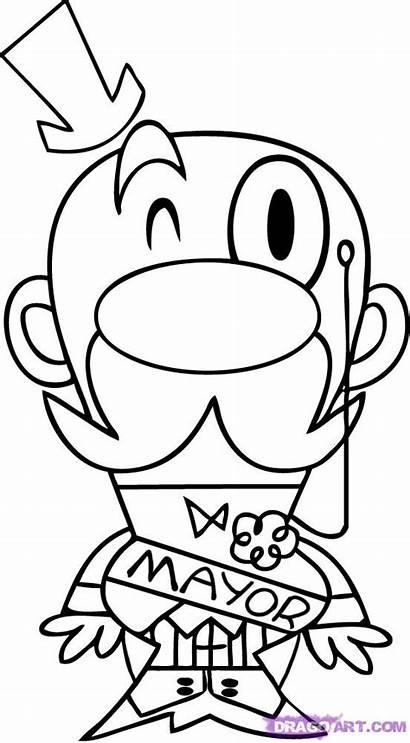 Mayor Powerpuff Draw Drawing Drawings Cartoon Clipart