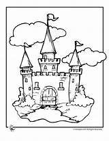 Castle Clipart Castles Coloring Library Beanstalk Jack Children Clip Pages Fairy Tale sketch template
