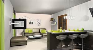 Dcoration Cuisine Salon Exemples D39amnagements