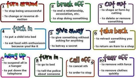 10 Commonly Used Multiple Meaning Phrasal Verbs In English