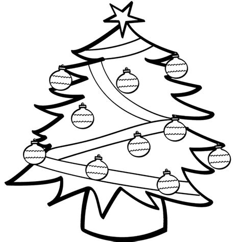 Christmas Tree Ornaments Coloring Pages  Az Coloring Pages