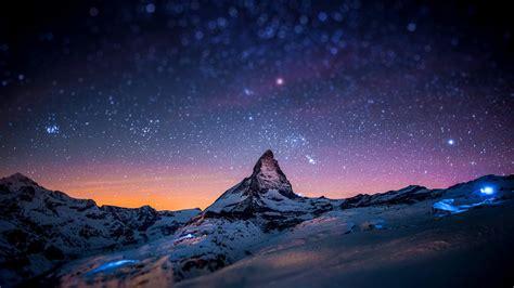Wallpaper 2560x1440 Px Lights Matterhorn Mountain