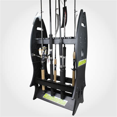fishing rod rack 16 fishing rod holder rack holds 16 fish rods