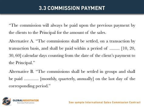 Commission Payout Template by International Sales Commission Contract