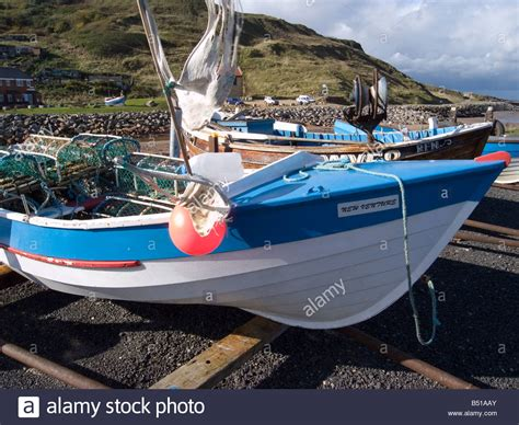 Small Fishing Boat Called by Small Fishing Boat Or Coble Called New Venture Freshly