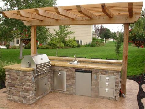 outdoor cabinets for patio small outdoor kitchen patio ideas pinterest small