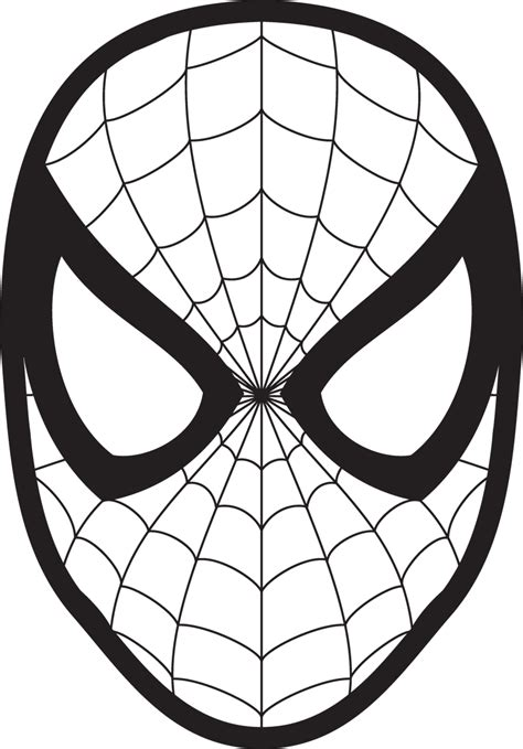spider man drawing face coloring book clip art spider