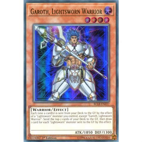 Best Lightsworn Deck 2011 by Garoth Lightsworn Warrior Bllr En037 1st Edition Yu Gi Oh