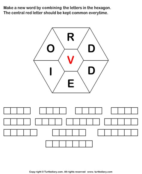 Create A Letter by Make Words Using Letters R D D E I O V Worksheet Turtle