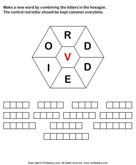 make words from letters make words using letters r d d e i o v worksheet turtle 21000