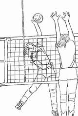 Volleyball Coloring Realistic Drawing Books Colornimbus sketch template