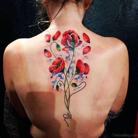 formed poppy tattoos