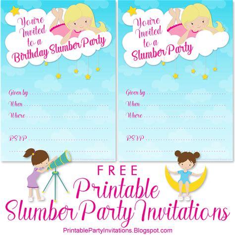 Slumber Party Invitations Free Printable Party Invitations