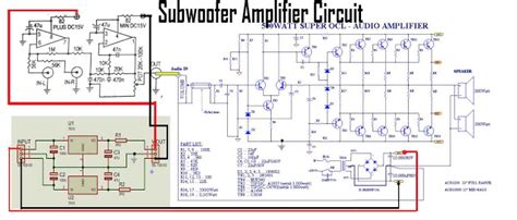 Subwoofer Amplifier With Power Socl Electronic Circuit