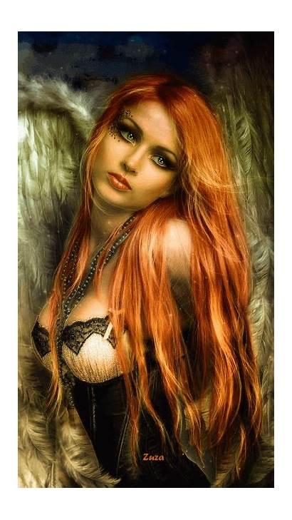Fantasy Gifs Angels Google Belle Rousse Redhead