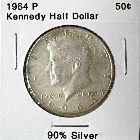 kennedy half dollar 1964 1964 p kennedy half dollar for sale buy now online item 177378