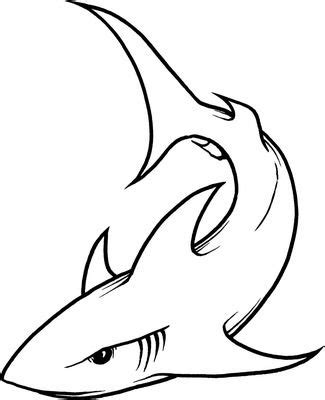 mako template mako shark pencil coloring pages