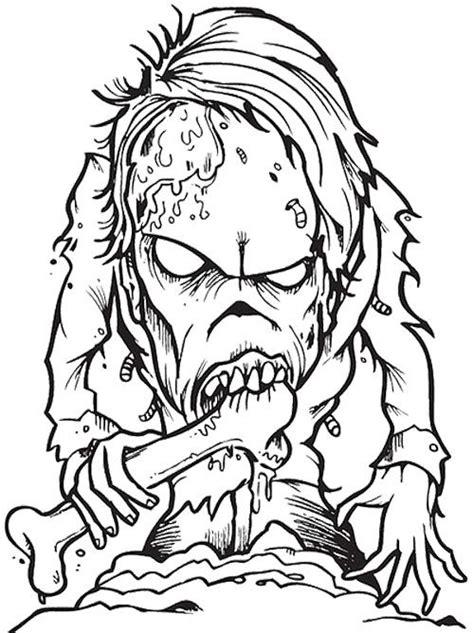 Creepy Zombie Coloring Page