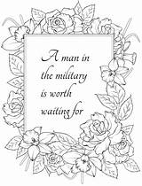 Coloring Notes Husband Wife Military Soldier Girlfriend sketch template