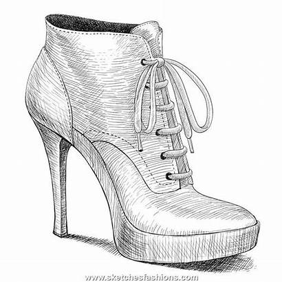 Shoe Sketches Shoes Drawings Sketch Boot Easy